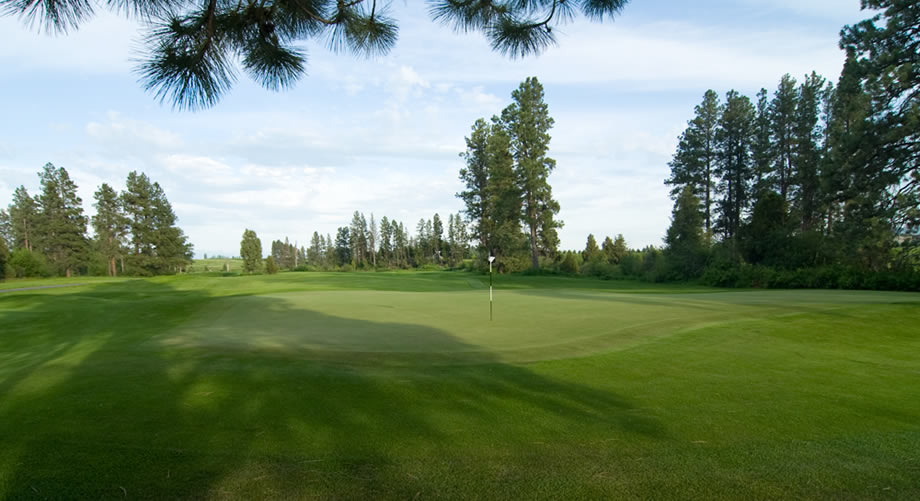 Golf course in Flathead Valley, Montana